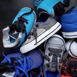 Huge bundle baby shoes Jordan converse Foamposite